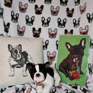 Frenchie Blanket, FAO Schwarz Frenchie, Pillow & P